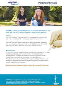 INDERMIL® flexifuze™ has been used to close your wound, the information contained within this leaflet will help you understand this closure method. Product Indermil® flexifuze™ is a tissue adhesive and can be used as an alternative to other closure methods such as sutures and staples. Read the patient information.